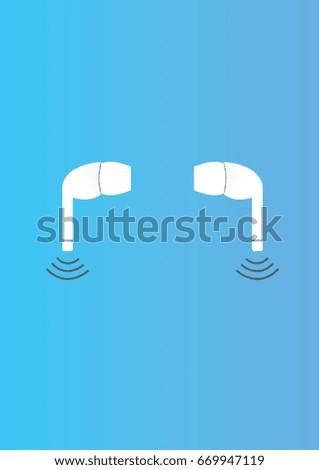 Wireless headphones in ear