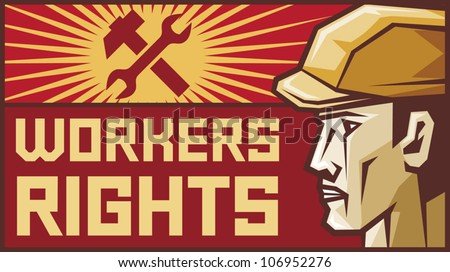 workers rights poster (construction worker)