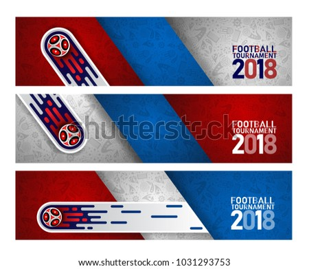 2018 world championship football cup on abstract background. banner soccer template. Vector Illustration
