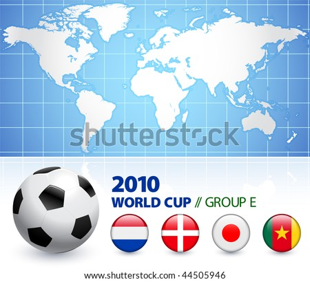 2010 World Cup Group E Original Vector Illustration