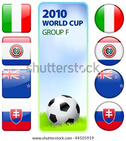 2010 World Cup Group F Original Vector Illustration