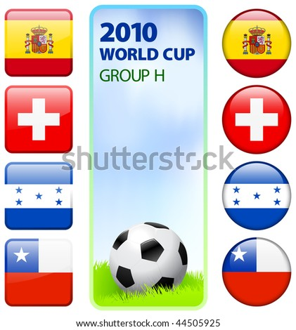 2010 World Cup Group H Original Vector Illustration