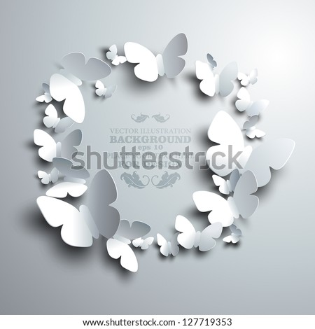wreath made of white paper