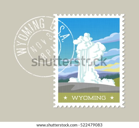 wyoming postage stamp design