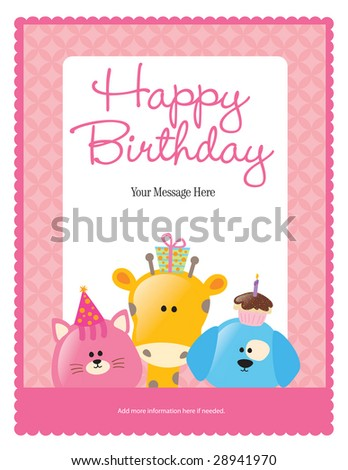 8.5x11 birthday flyer/poster template