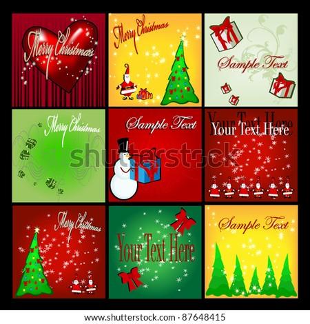 300x300 Christmas web banner set
