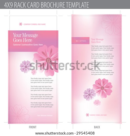 4x9 rack card brochure template includes cropmarks bleeds and keyline stock vector. Black Bedroom Furniture Sets. Home Design Ideas