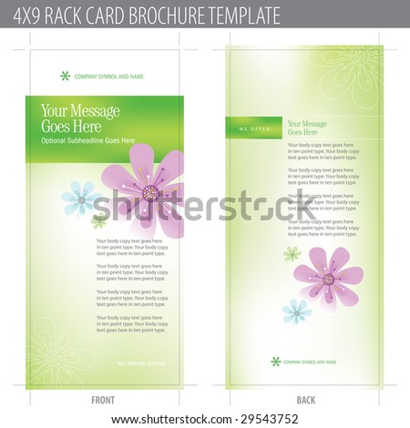 4x9 Rack Card Brochure Template (includes cropmarks, bleeds, and keyline) More in portfolio