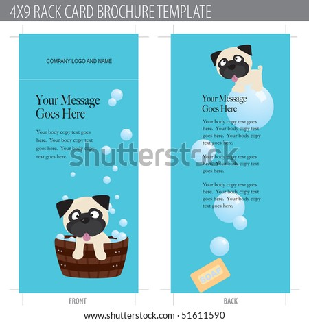 4x9 rack card puppy bath time
