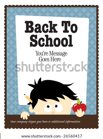 8.5x11 School Flyer Template