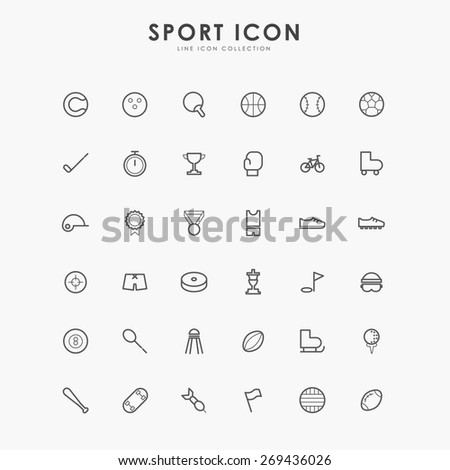 6x6 sport line icons