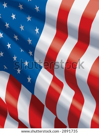 faded american flag background. faded american flag