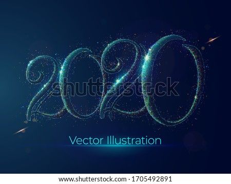 2020 year abstract dotwork