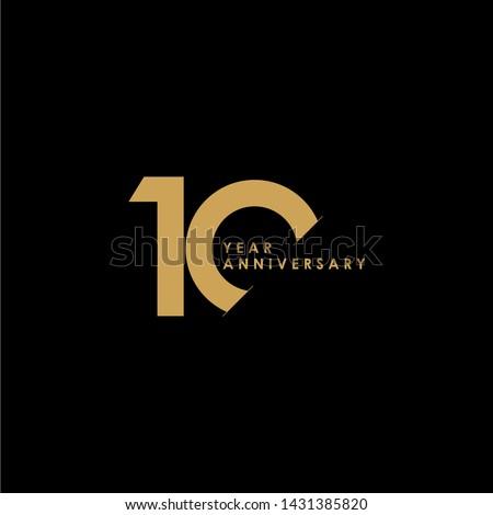 10 Year Anniversary Celebration Vector Template Design Illustration ストックフォト ©