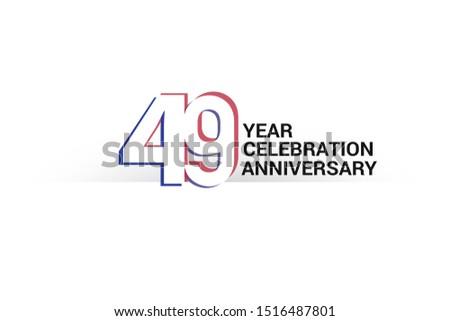 49 year anniversary  minimalist