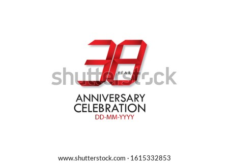 38 year anniversary  red dark