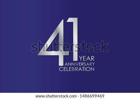41 year anniversary silver