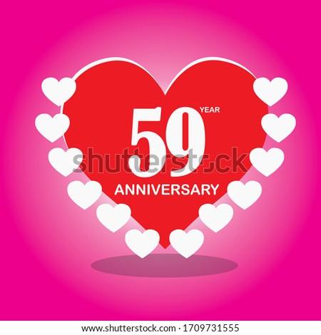 59 year anniversary  vector