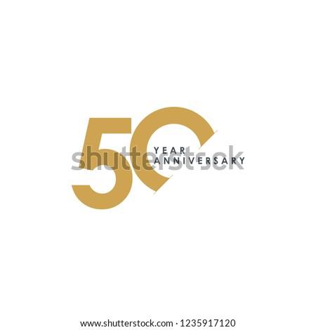 50 Year Anniversary Vector Template Design Illustration Foto stock ©