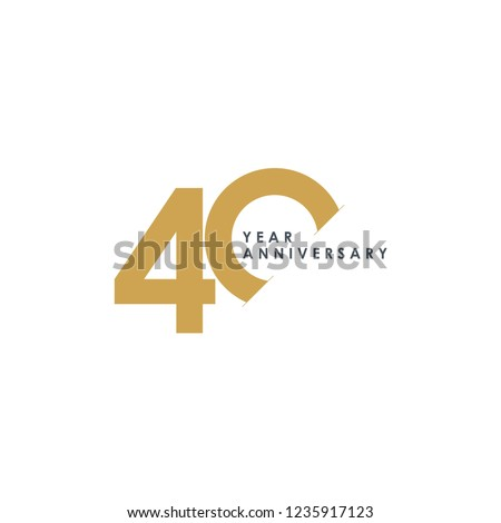 40 Year Anniversary Vector Template Design Illustration ストックフォト ©