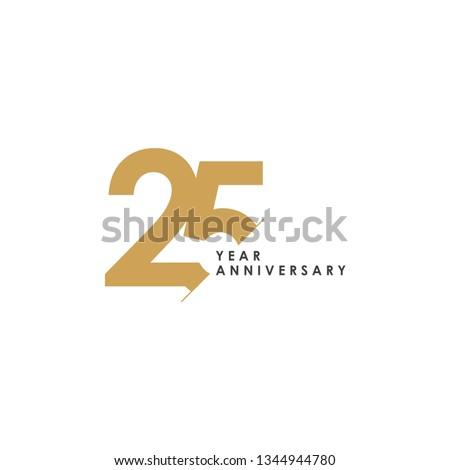 25 Year Anniversary Vector Template Design Illustration Foto stock ©