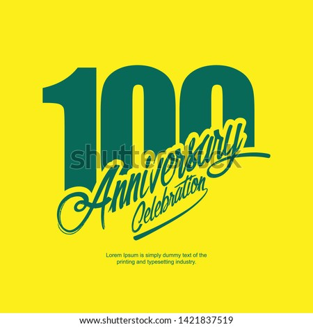 100 Year Anniversary Vector Template Design Illustration.