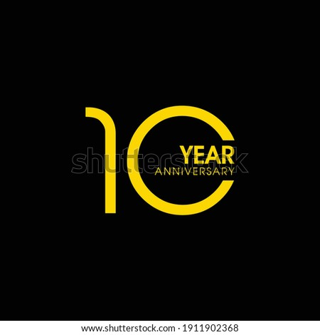 10 Year Anniversary Vector Template Design Illustration, Template Icons, Year Icons Vector ストックフォト ©