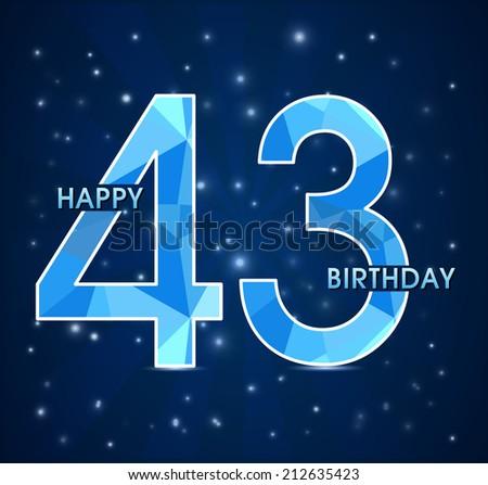Поздравления с днем рождения мужчине с 43 летием