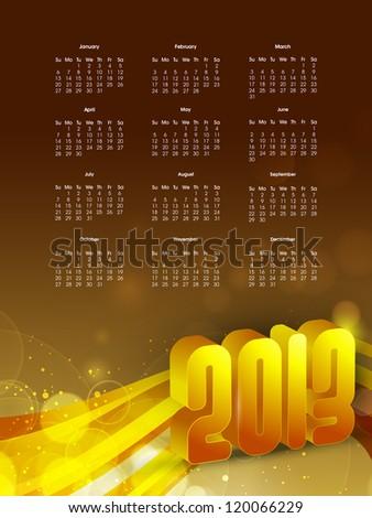 2013 year calender. EPS 10. - stock vector
