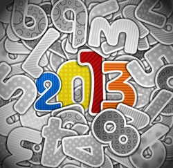 2013 year from a paper. Eps 10