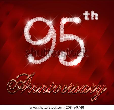 95 Year Happy Birthday Card 95th Anniversary Sparkles