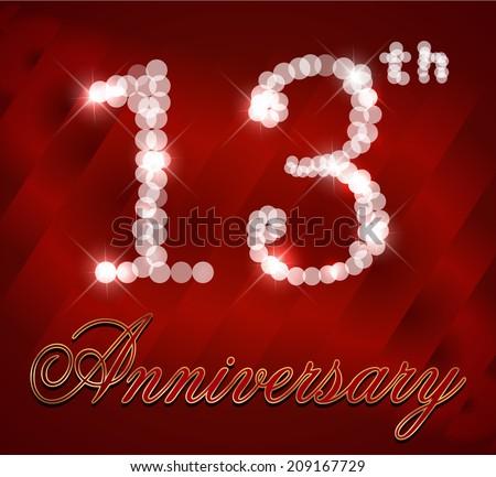 37 Year Happy Anniversary Card 37th Stock Photo 249350131 Avopixcom