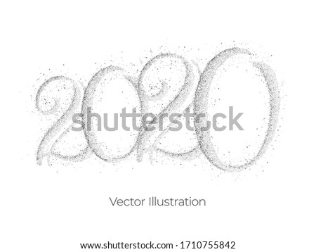 2020 year isolated abstract