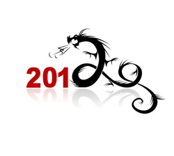 2012 year of dragon, illustration for your design