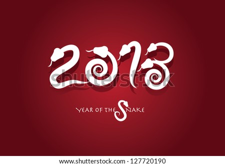 2013 Year of the Snake EPS 8 vector, no open shapes or paths. Grouped for easy editing.