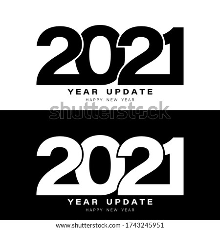 2021 Year Update. 2021 New Year banner or poster. 2021 Chinese new year of the ox, template or logo. Design for banner, greeting cards, brochure or print. Vector illustration