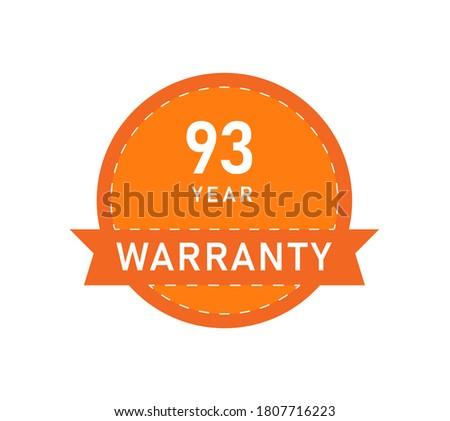 93 year warranty logos image