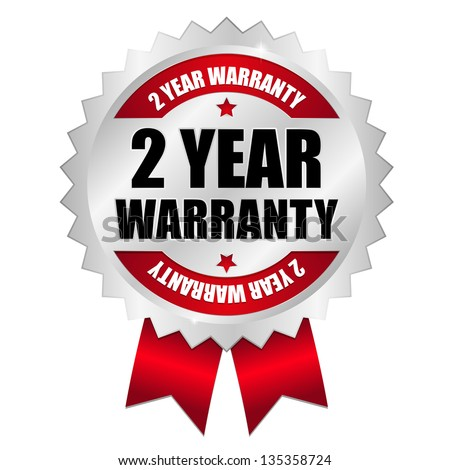 2 year warranty seal red Stock photo ©