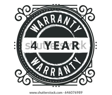 4 year warranty vintage grunge...