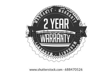 2 year warranty vintage grunge rubber stamp guarantee background #688470526