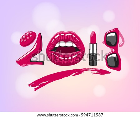 2018 year woman things red