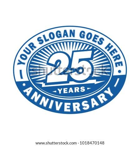 25 years anniversary. Anniversary logo design.