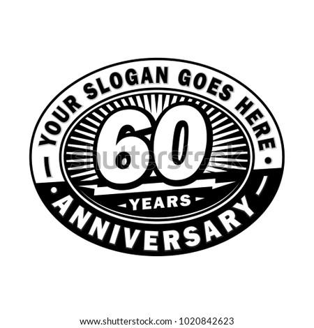 60 years anniversary. Anniversary logo design.