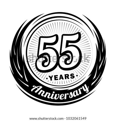 55 years anniversary. Anniversary logo design. 55 years logo.