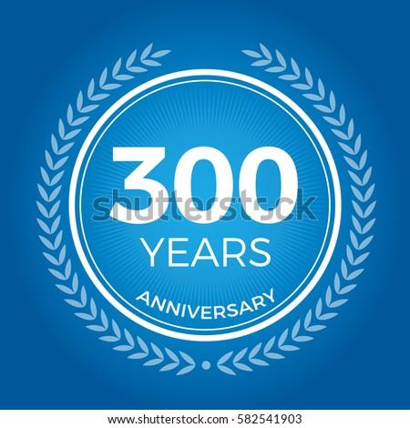 300 years anniversary badge