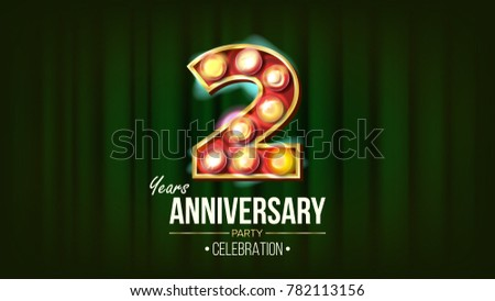 Th anniversary celebration card template download free vector