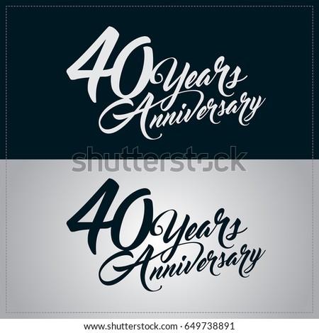 40 years anniversary celebration logotype Foto stock ©