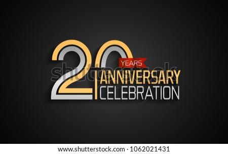 Colorful ribbon anniversary badge vectors download free vector