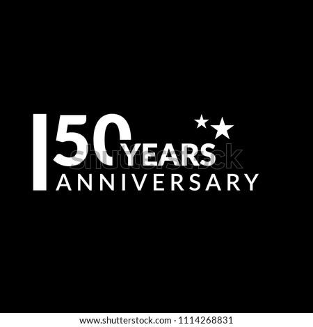 50 years anniversary celebration simple logo