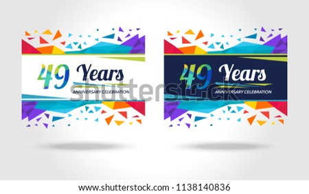 49 years anniversary colorful